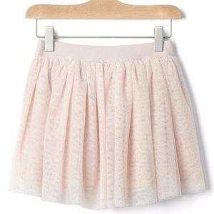 Gap girls soft pink shimmering tulle skirt